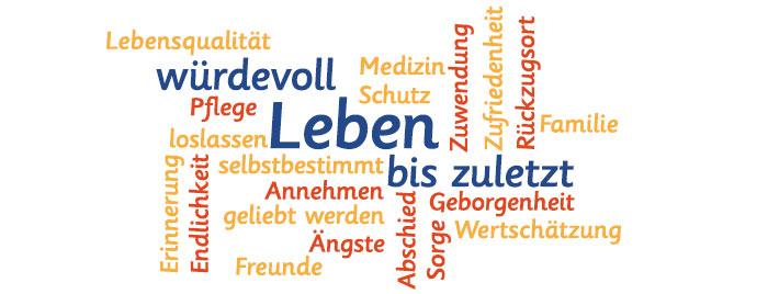 Palliativ Wortwolke © Bürgerstiftung Rheinviertel